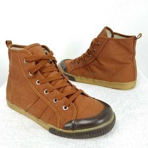 GAP Canvas Hi-Top Lace up Sneakers Boots Big boy 5